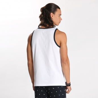 Bossini Printed Vest with Round Neck