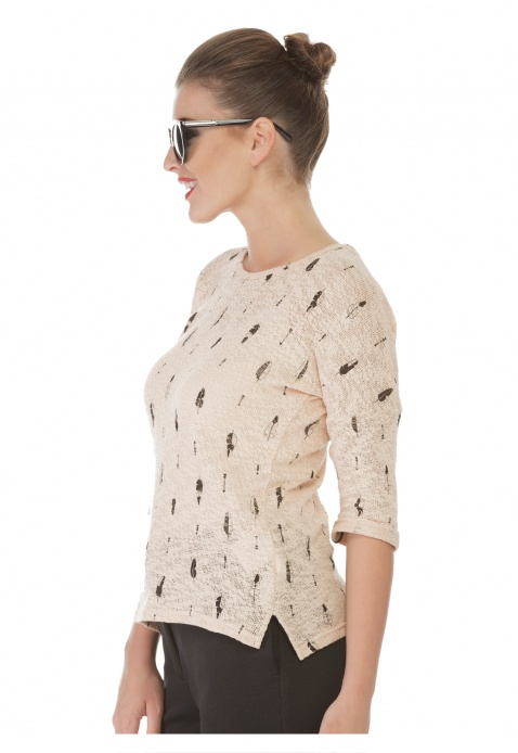 Graphic Print Blouse