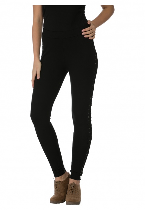 Leggings with Lace-up Details