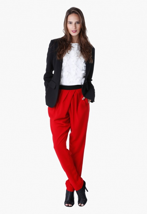 Criss-cross Pleat Pants