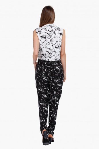 Printed Slouch Jumpsuit in Regular Fit