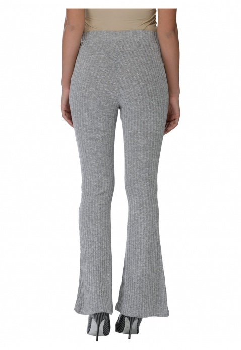 Solid Colour Ribbed Pants
