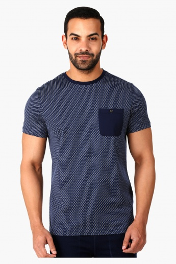 L'HOMME Casual T-Shirt with Short Sleeves in Regular Fit