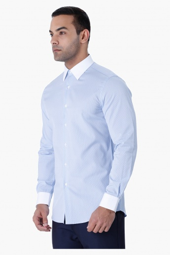 L'HOMME Textured Shirt
