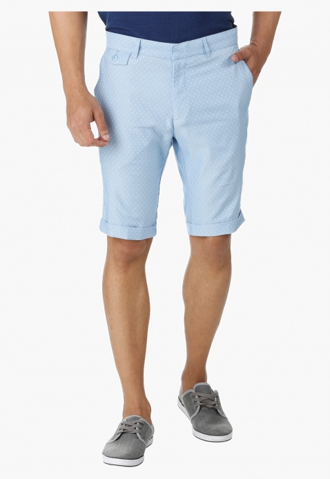 L' Homme Textured Shorts