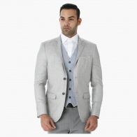 L'HOMME Formal Blazer Jacket with Long Sleeves in Regular Fit