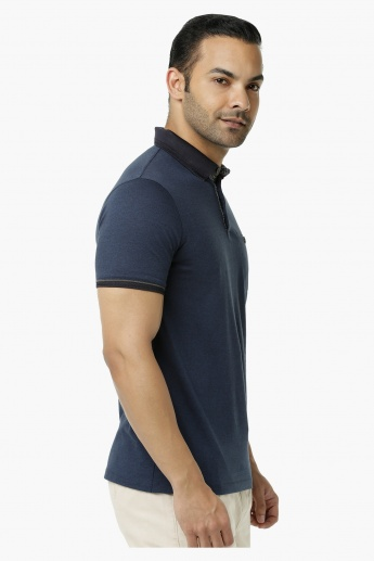 L'HOMME Cotton Polo T-Shirt in Regular Fit