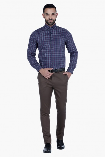 L'Homme Chequered Shirt with Long Sleeves