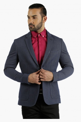 L'HOMME Bonded Blazer Jacket in Regular Fit