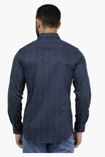 L' Homme Printed Long Sleeves Casual Cotton Shirt