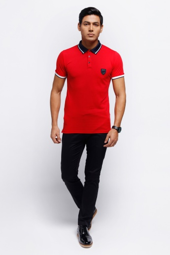 L'HOMME Printed Polo Neck T-Shirt