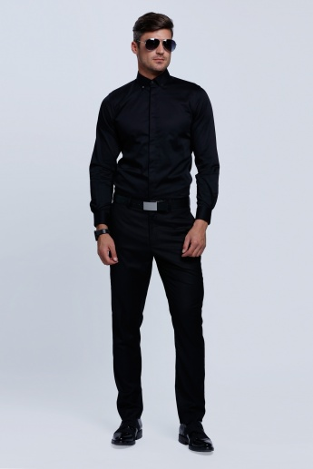 L'HOMME Long Sleeves Shirt with Button Placket