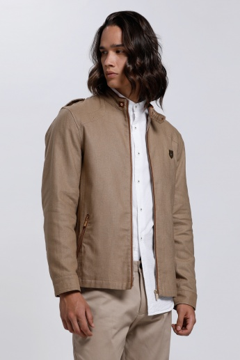 L'HOMME Long Sleeves Jacket with Zip Closure
