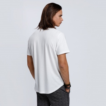 L'HOMME Round Neck T-Shirt with Short Sleeves