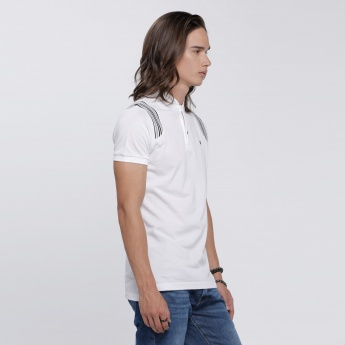 L'HOMME T-Shirt with Short Sleeves in Slim Fit