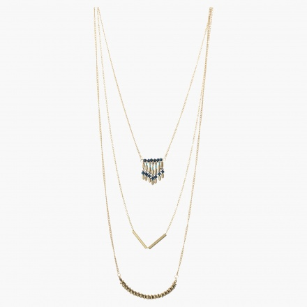 Accent Pendant-embellished Layered Necklace