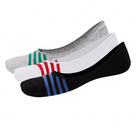 Striped Invisible Socks - Set of 3