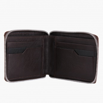Leather Bifold Zip-around Wallet