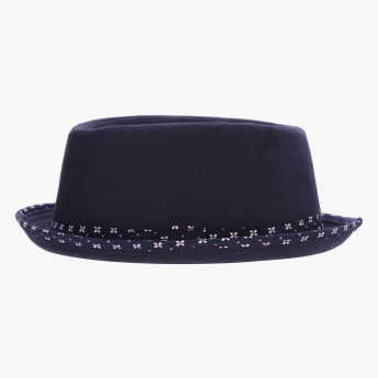 Fedora Hat with Contrast Print