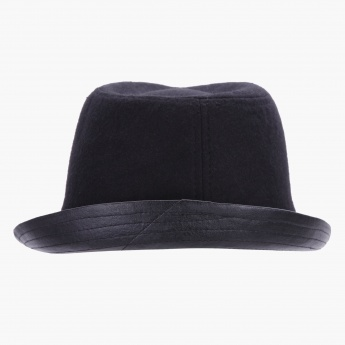 Fedora Hat with Stitch Details