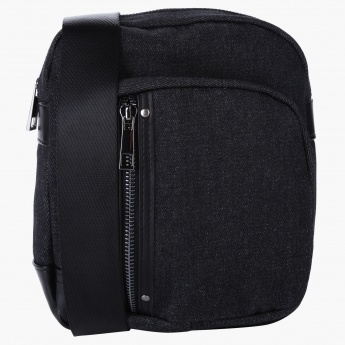 Lee Cooper Messenger Bag with Zip Closure