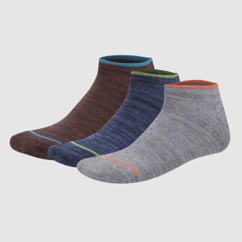 Melange Print Ankle Length Socks - Set of 3