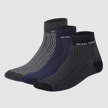 Being Human Textured Ankle Length Socks - Set of 3