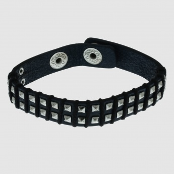 Studded Bracelet with Push Button Closure