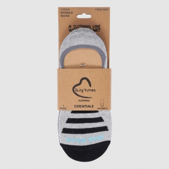 Being Human Striped No Show Socks - Set of 3