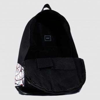 Printed Backpack with Dual Straps