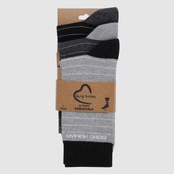 Being Human Printed Crew Length Socks - Set of 3