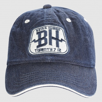 Being Human Embroidered Cap with Metallic Buckle Closure