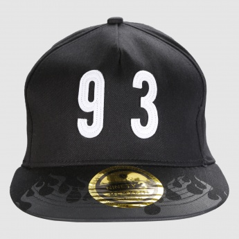 Printed Cap with Number Appliques and Snap Closure