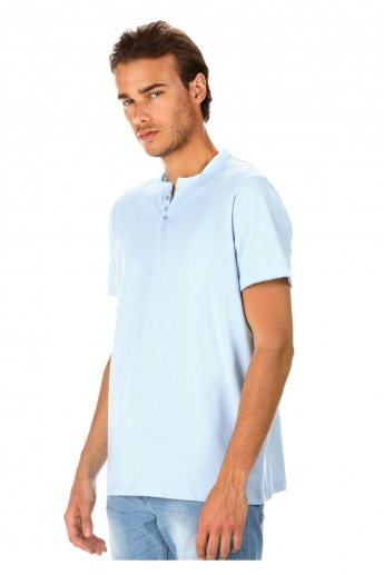 Lee Cooper Henley Neck T-shirt
