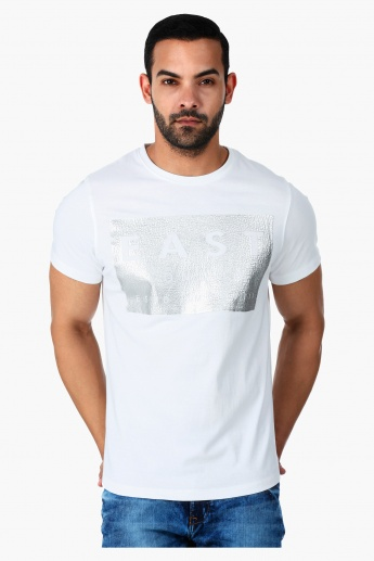 Lee Cooper Printed T-Shirt with Round Neck in Regular Fit