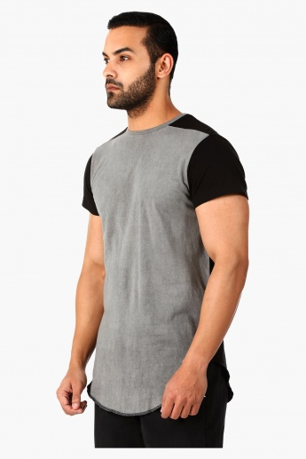 Lee Cooper Longline T-Shirt with Short Sleeves in Regular Fit
