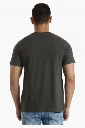 Lee Cooper Printed Cotton T-Shirt in Regular Fit