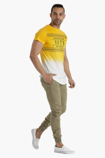 Lee Cooper Basic T-Shirt with Placement Print in Regular Fit