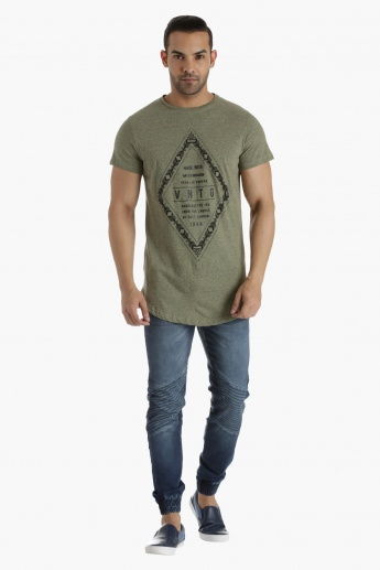Lee Cooper Cotton T-Shirt with Placement Print in Regular Fit