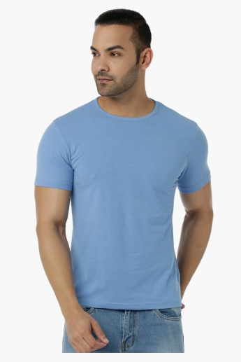 Lee Cooper Basic T-Shirt with Round Neck and Short Sleeves in Muscle Fit