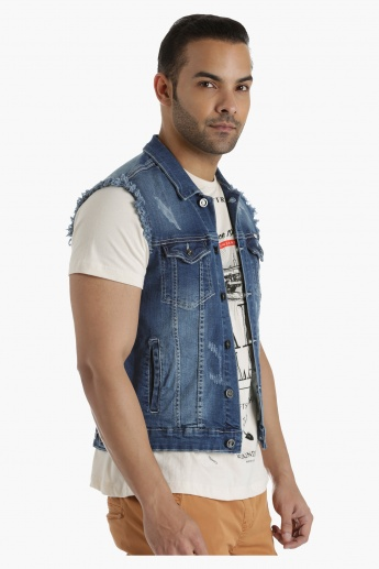 Lee Cooper Short Denim Jacket in Regular Fit