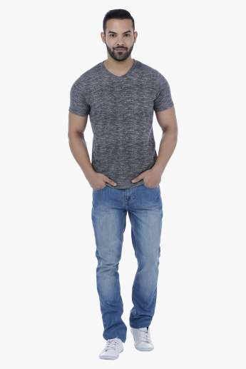 Lee Cooper Full Length Washed Out Straight Fit Jeans