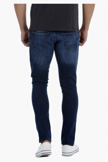 Lee Cooper Skinny Fit Jeans with Whiskered Finish