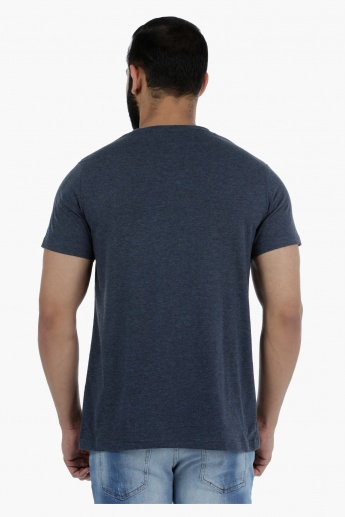 Lee Cooper Printed Short Sleeves T-Shirt with Crew Neck