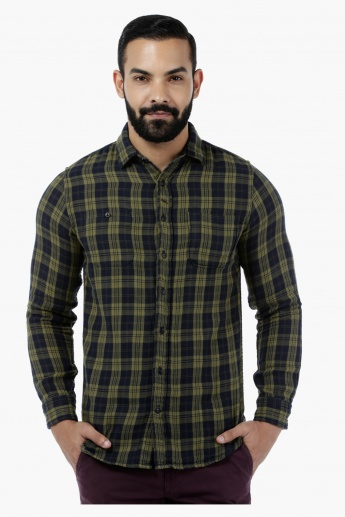 Lee Cooper Chequered Yarn Dyed Double Fabric Shirt