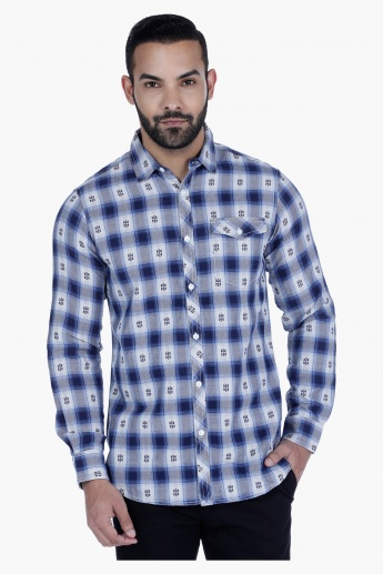 Lee Cooper Printed Shirt with Long Sleeves