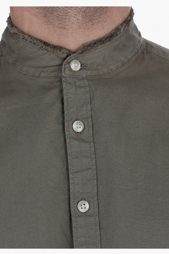 Lee Cooper Shirt with long sleeves and Band Collar