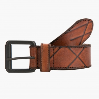 Lee Cooper Textured Leather Belt
