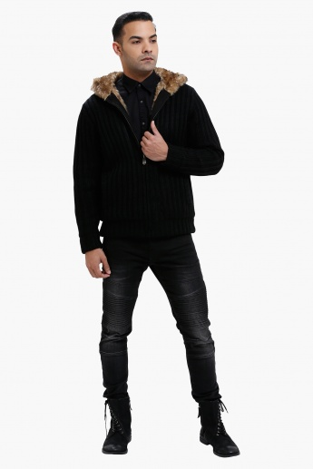 Lee Cooper Hooded Sweater with Long Sleeves