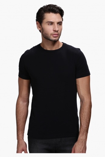 Lee Cooper Round Neck T-Shirt with Short Sleeves in Slim Fit